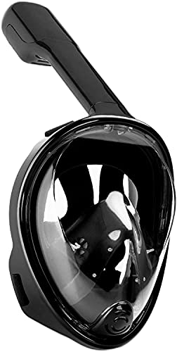 Lucario Full Face Snorkel Mask for Adult 180°Panoramic View Anti-Fog Anti-Leak Easy Breathe Snorkeling Set with Detachable Action - Multi