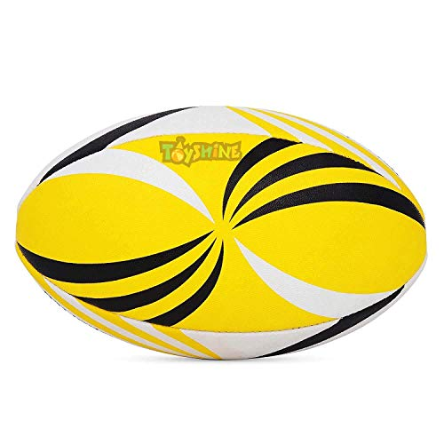 Toyshine Rugby - Polyester Professional Grade Ball, Heavy Duty & Durable - Ideal for Long Matches & Gameplay Size 5 (Multicolor, SSTP)