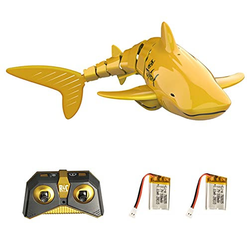 Decdeal Mini RC Shark Remote Control Toy Swim Toy Underwater RC Boat Electric Racing Boat Spoof Toy Pool