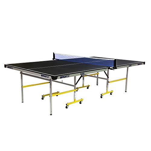 Bronx Duro Table Tennis Table with 18 mm Both Side Laminated Black top and 50 mm Wheel (2 Table Tennis Table bat, 3 Table Tennis Table Balls and Table Tennis Table Cover)