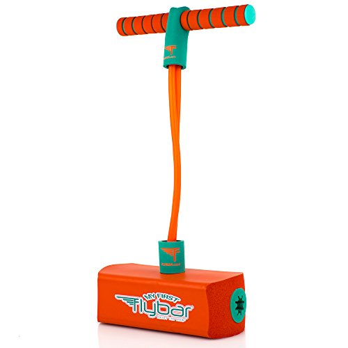 My First Flybar Foam Pogo Jumper for Kids Fun and Safe Pogo Stick for Toddlers, Durable Foam and Bungee Jumper for Ages 3 and up, Supports up to 250lbs (Orange)