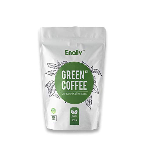 Enaliv Organic AAA Grade Arabica Green Coffee Beans For Strengthening Immunity, Detoxification & Weight Loss - 200 Grams (Pack of 1)