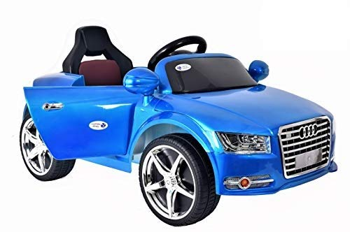 TALREJA ENTERPRISES Battery Operated Ride on Car at-A8 Model with USB and MP3 Functions, with Remote and Charger (Blue)