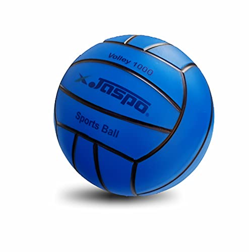 Jaspo Soft Touch Recreational 9 Inches PVC Inflatable Beach Ball / Volleyball - Perfect Size for Indoor or Outdoor Play - Blue)
