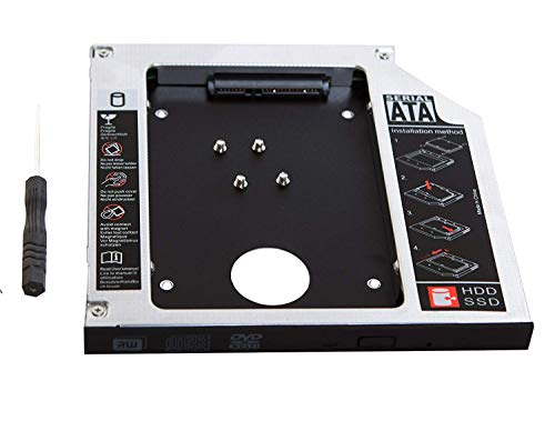 rts 9.5 mm Universal SATA to SATA 2nd SSD HDD Drive Caddy Tray Enclosure for HP DELL Lenovo ACER Gateway ASUS Sony Samsung MSI Laptop