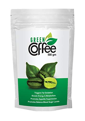 Vokin Biotech Organic Green Coffee Beans Decaffeinated & Unroasted Arabica Coffee for Weight Management (500 Gram)