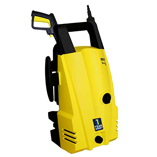 Inalsa High Pressure Washer PowerShot- 1400W,| 100% Pure Copper Motor|Pressure-105 Bar, Max Flow-372 l/h, Working Radius +9 m, Spray Gun with Extension Rod, Hose Pipe for Multi-Cleaning,(Yellow/Black)