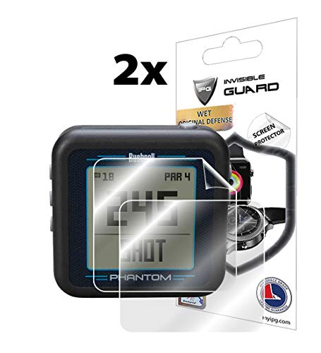IPG for Bushnell Phantom Handheld Golf GPS Screen Protector (2 Units) Invisible Ultra HD Clear Film Anti Scratch Skin Guard - Smooth/Self-Healing/Bubble -Free by