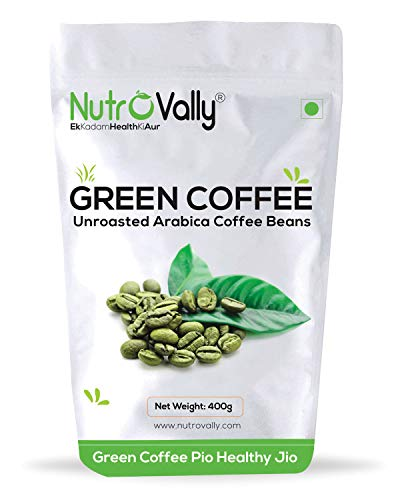 NutroVally green coffee beans for Weight Loss Fast Unroasted Arabica Natural Immunity Booster - 400G