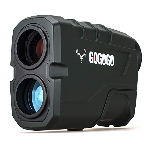 Gogogo Sport Vpro 1200 Yards Laser Range Finder, Green Hunting with Flagpole Lock - Ranging - Speed and Scan 6X Rangefinders with USB Cable