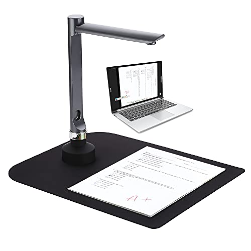 F60A USB Document Camera Scanner 5 Mega-Pixel HD Camera A4 ture Size with LED Light Teaching Software for Teacher Classroom Online Teaching Course Distance Learning Education