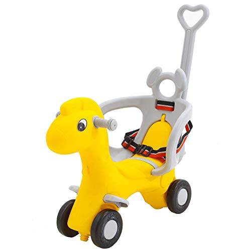 Baybee 2 in 1 Baby Horse Rider-Kids Ride-On Push Car, Toy Horse Ride-On, Kids Toys, Toddler Baby Toy Suitable for Kids Boys & Girls Age 1-3 Years Old, Made in India! (Giraffe Rider)