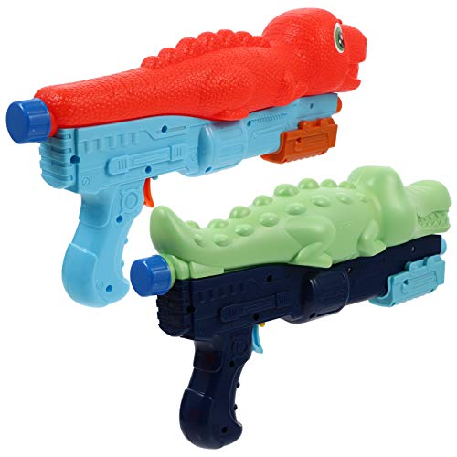 TOYANDONA 2pcs Water Guns for Kids, Crocodile Dinosaur Squirt Water Blaster Soaker Toys for Kids Summer Pool Party Favors