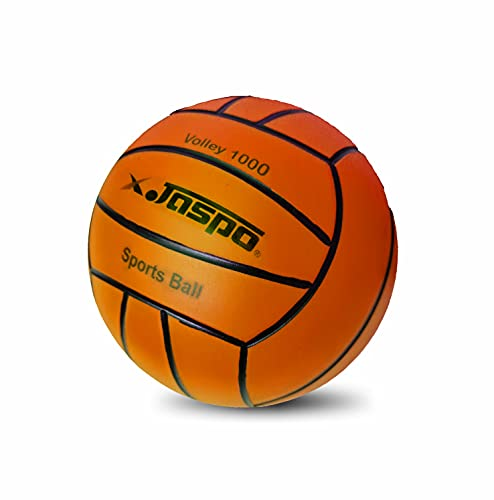 Jaspo Soft Touch Recreational 9 Inches PVC Inflatable Beach Ball / Volleyball - Perfect Size for Indoor or Outdoor Play - (Orange)