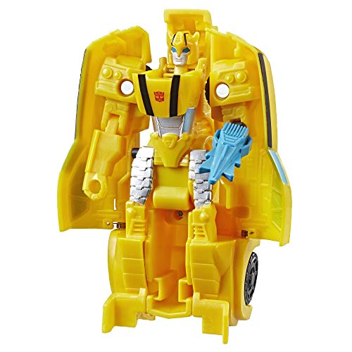 TRANSFORMERS Bumblebee Cyberverse Adventures Action Attackers: 1-Step Bumblebee Figure, Sting Shot Action Attack, 4.25-inch