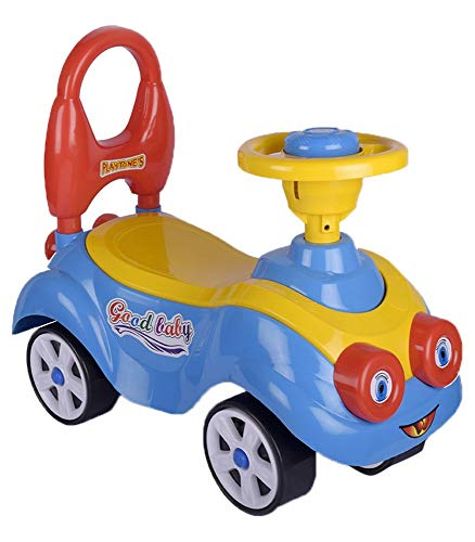 Toys Treasure Cartoon Ride On, Baby Car, Kids Car, Toy Car, Push Car with Whistle Sound Toy for 1 Year Old Baby, Multicolor