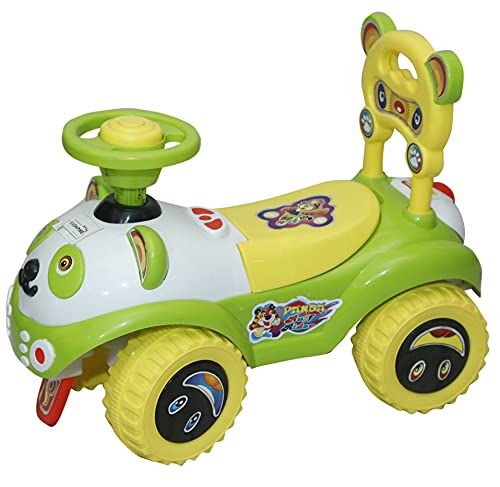 EVOHOME® Kids Baby Ruff Ride on Push Car Ride with Backrest Musical Horn for Kids Boys & Girls Toy Ride-on, Kids Toys, Toddler Baby Toy Baby Car Suitable for Kids Age 1-3 Years Old (Green)