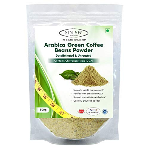 Sinew Nutrition Green Coffee Beans Powder for Weight Management- 500gm