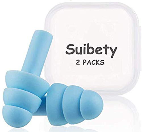 Ear Plugs for Sleeping, Noise Cancelling Sound Blocking Eerplugs NRR 32 Reusable Noise Reduction for Swimming Airplanes Musicians Concerts Silicone