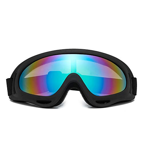 FIRSTLIKE Ski Goggles Unisex Snow Goggles Windproof 100% UV Protection, Cycling Motorcycle Snowmobile Ski Goggles, Outdoor Sports Ski Glasses