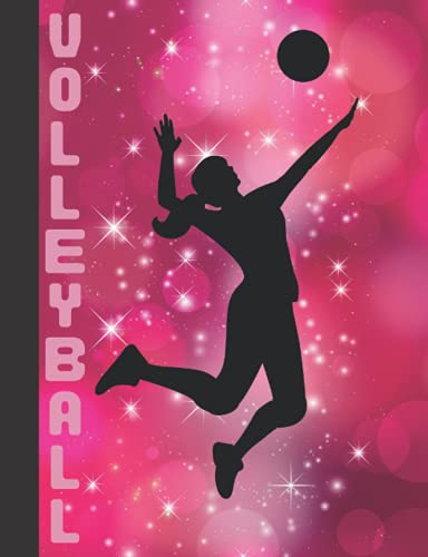 Girl's Notebook Gift - Volleyball College Ruled Lined Notebook for Teen Girls: 120 pages, 7.44 x 9.69, Sports, Volleyball