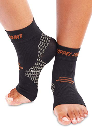 CopperJoint Arch Support Compression Socks for Men & Women - Foot Sleeve For Plantar Fasciitis - Heel Pain, Achilles Tendonitis, Inflammation - Improves Circulation - Heal & Recover With Copper Ions