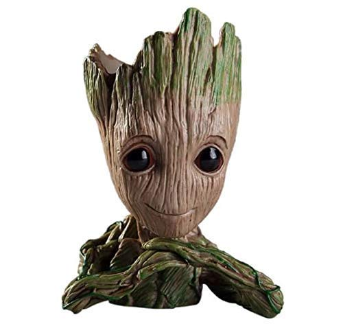 KC PRODUCTS New Baby Groot Tree Man Guardians of The Galaxy Avengers Action Figures Stationery Organizer or Flowerpot with Drainage Hole
