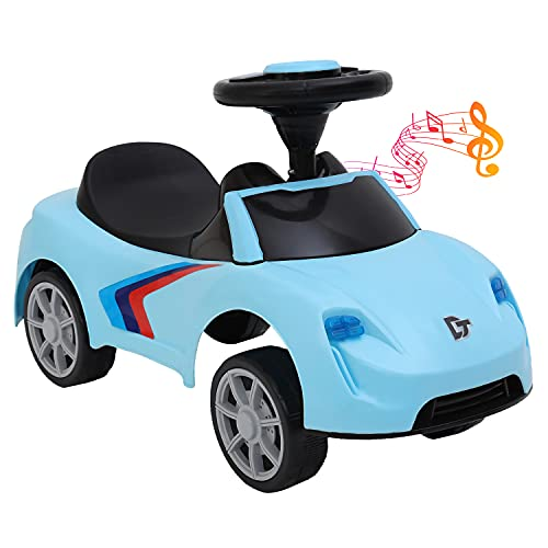 Dash F1 Musical Ride on Car with Front and Rear Lights in Different Colors, Steering Drive, Perfect for Kids (1 to 3 Years , Blue)