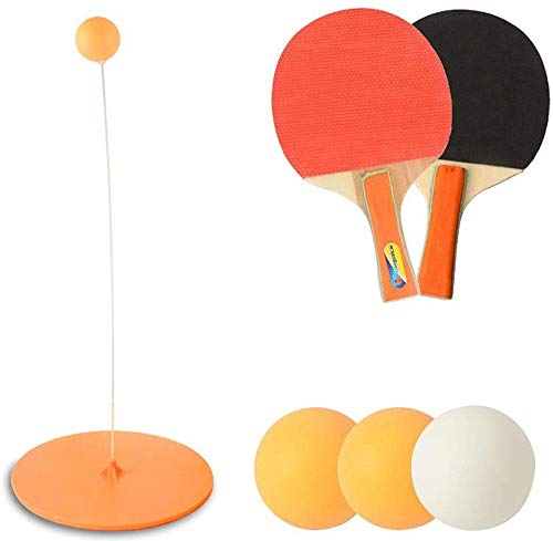 IRIS Table Tennis Trainer, Table Tennis Rebound Trainer, Table Ping-Pong with Elastic Soft Shaft, Leisure Decompression Sports, Self-Training Device for Adults Children