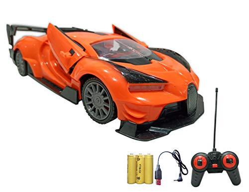 Popsugar Bugatti 1: 20 Door Opening Car with Rechargeable Battery and Charger RC Car for Kids, Multicolour