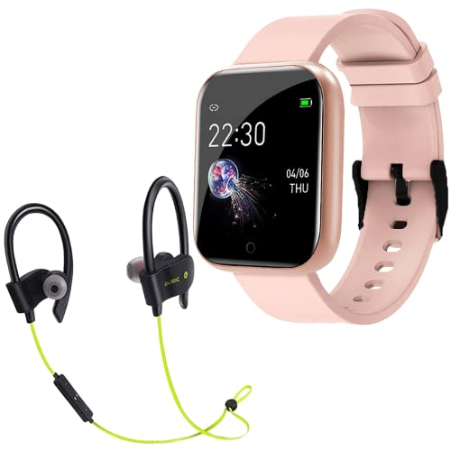 Waterproof Smart Watch for Xiaomi Mi Mix 4 5G Touch Men Women Fitness Tracker Blood Pressure Heart Rate Monitor for Girls & Boys with H15 Wireless Bluetooth Headset Hand-Free Calling, Sweatproof