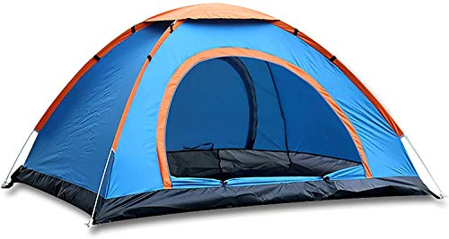 ROYALDEALS - RD Portable Polyester Waterproof 4 Person Camping & Outdoor Tent for Fishing Travel Hiking Hunting Camping (Multicolour)