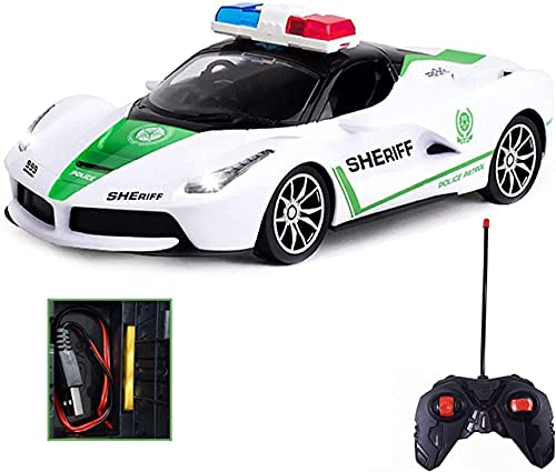 WISHKEY Rechargeable Remote Control Police Car with Lights, Super Cool High Speed,Stylish Look & Modern Design-RC Vehicle Toy for Kids