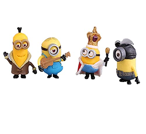NYRWANA DELIVERING SMILES IN INIDA Minions Collectible Action Figures Set of 10 Pcs ( Yellow )