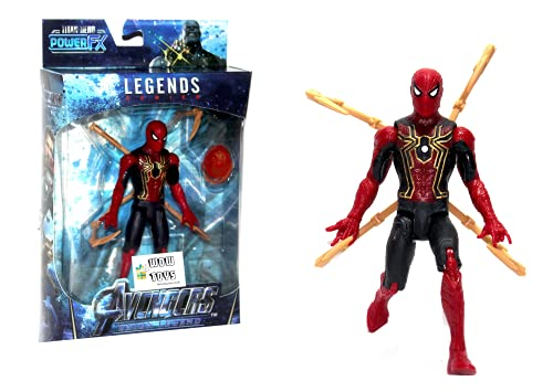 WOW Toys - Delivering Joys of Life   Legend Series   Spider Super Hero Highly Flexible and Realistic Action Figure Toy   LED Light   15 cm   Infinity Stone