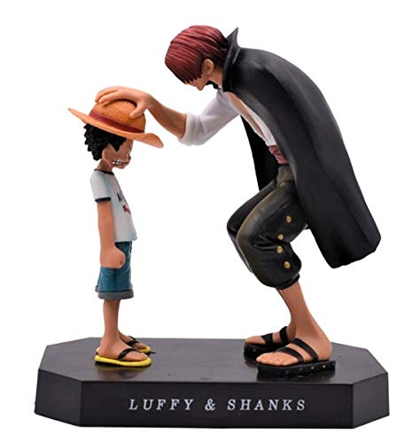Blue Aura Anime Character One Piece Monkey D Luffy (Baby) & Shanks Action Figure (NO Box) Collectible Height - 18 cm