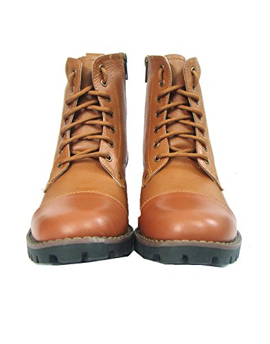 ASM Pure Leather Police Boots, Leather Linning & Socks, Heavy Duty TPR (Thermo Plastic Rubber) Sole & Memory Foam Cushioning for Men & Women Article 601PDM, 5 to 13 (8) Tan
