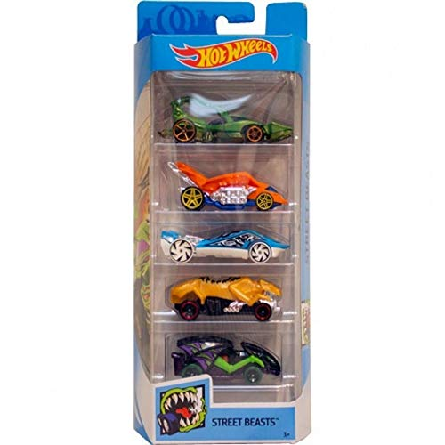 Hot Wheels Plastic 5 Car Gift Pack, Multicolor Design May Vary