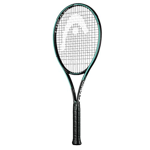 HEAD Graphene 360+ Gravity Tour Professional Tennis Racquet for Men and Women | Strung | Weight: 305 gm| Powerful | Optimal Control and Speed (Black/Coral/Teal)