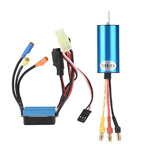 Brushless Motor Esc Set, Stable Performance And Excellent Function. Brushless Set 4800KV Motor with 35A ESC Suitable for FS 1/18 Scale RC Truck