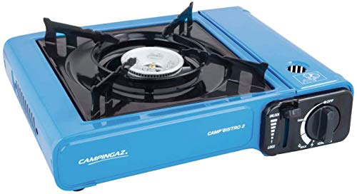 Coleman Stainless-Steel Campingaz Camp Bistro Camping Stove, Flame Portable Gas Cartridge Cooker, 2200 W (Blue)