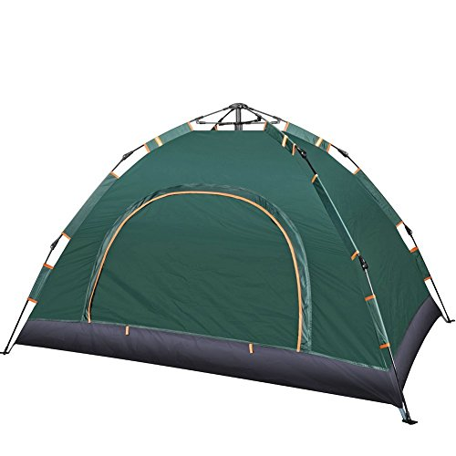 IRIS Instant Pop Up Tents, 2 Person Automatic Hydraulic Family Tents, Waterproof Backpacking Tents for Outdoor Sports Camping Hiking Ultralight with Zippered Door and Carrying Bag ( 200 X 150 X 110 cm)