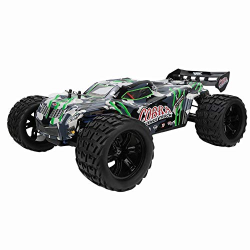 Remote Control Terrain RC Cars,4WD RC Car Brushless Motor Electric Vehicle with Anti-Skid System EU Plug 100-240V Boys Remote Control Car Off Road Monster Truck