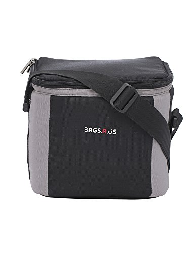 BagsRUs Black Polyester 6 Liter 6 Cans Portable Travel Chiller Cooler Bag with Free ice Pack (CH102FBL)
