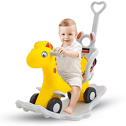 GoodLuck Baybee Baby 2 in 1 Horse Rider-Kids Ride On Push Car Toy Car Rider Babies Toy Toddler Baby Rocker seat Toys 1-3 Years - Indoors and Outdoors Made in India (2in1 Yellow)