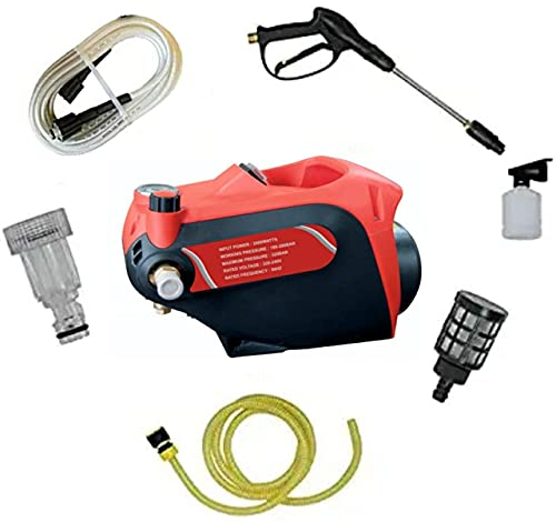 STARQ AWP2.4 2400 W heavy duty (180-280 Bar) Max 320 Bar car pressure washer with Pressure Control Knob and Water Proof. 1 Year Warranty
