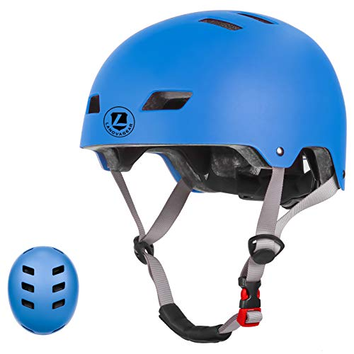 LANOVAGEAR Toddler Bike Helmet for Kids Youth 2-14 Years Old Girls Boys, CPSC Certified Adjustable Helmet, for Cycling Scooter Skating (Blue, M)