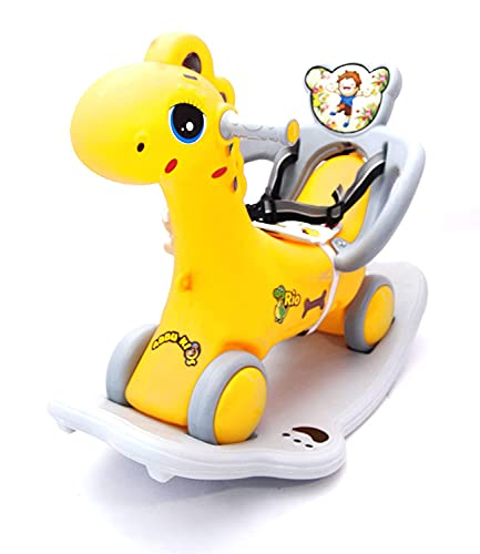 HARISTAR 2 in 1 Baby Horse Rider for Kids Ride Push Car, Toy Horse Rider, Kids Toys, Kids Enjoy Very Well Toddler Baby Toy Loving Toy for Kids Boys & Girls Age 1-3 Years Old, Made in India