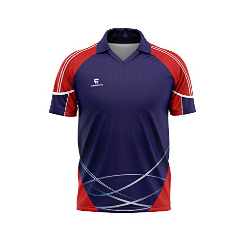 Triumph Men's Polyester Printed Rugby Jersey Size Medium