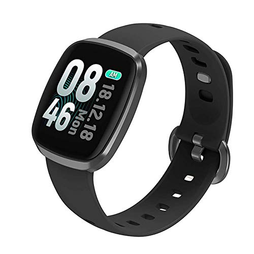OPTA RSB-125 Themis Bluetooth Smart Watch Full Touch Screen Display Heart Rate Fitness Band + All-in-One Activity Tracker & Health Monitoring Smart Watch Compatible with Android/IosMedium (Black)